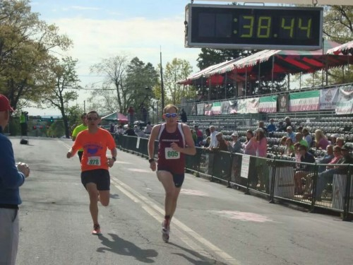 The Fits in action at the Apple Blossom 10K