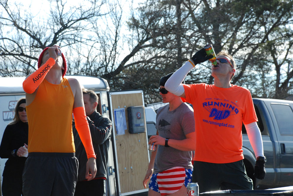 The First Annual Winchester Beer Mile. It went down New Years Day … but would it stay down?