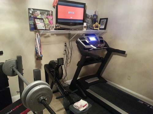 Image result for treadmill and tv
