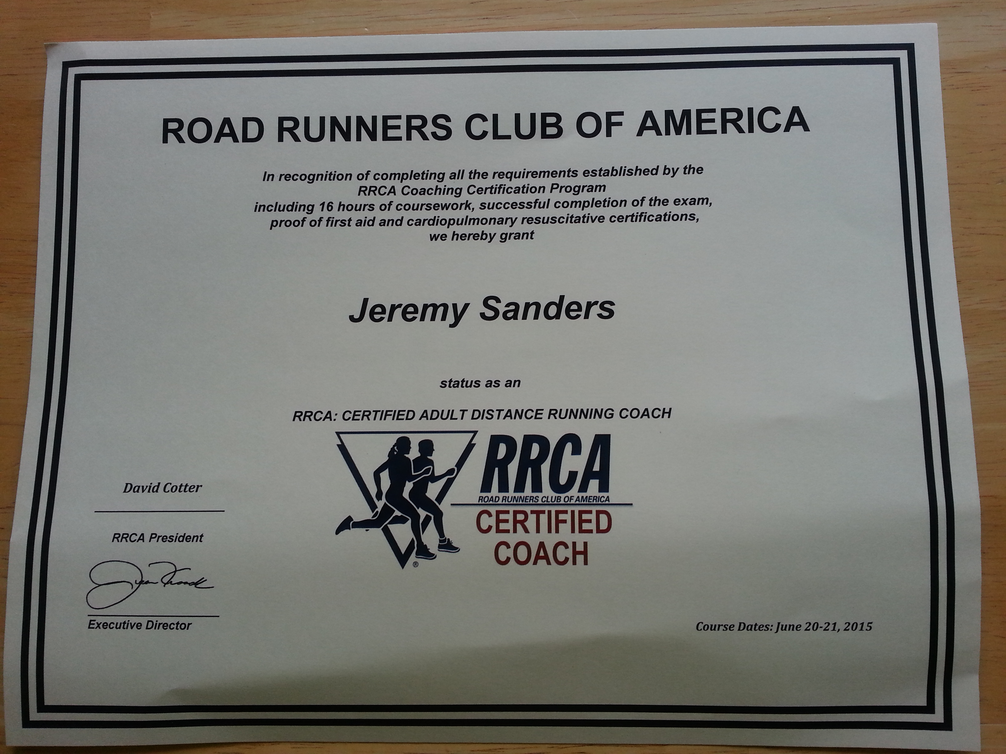 Road Runners Club Of America Rrca Coaching Certification Running Dad