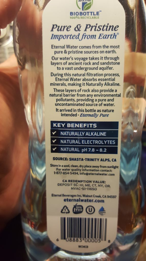 Eternal Naturally Alkaline Spring Water - How good is your