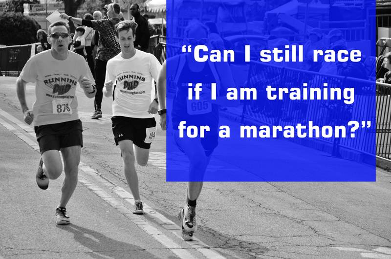 Can I race during my marathon training?