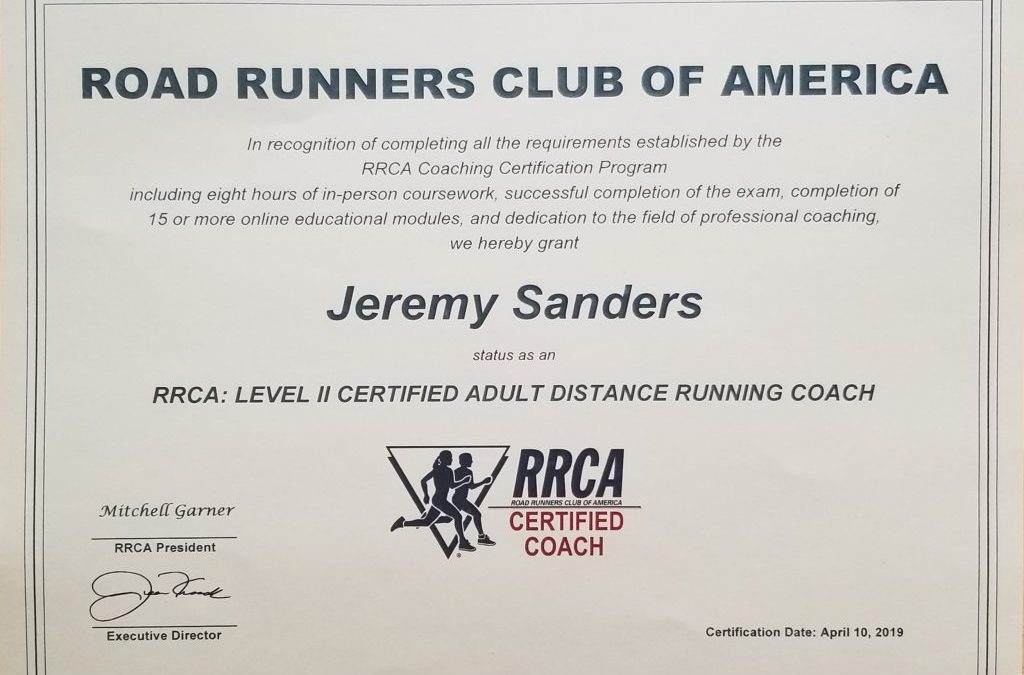 Leveling Up in the Coaching Game – RRCA Level II Coaching Certification